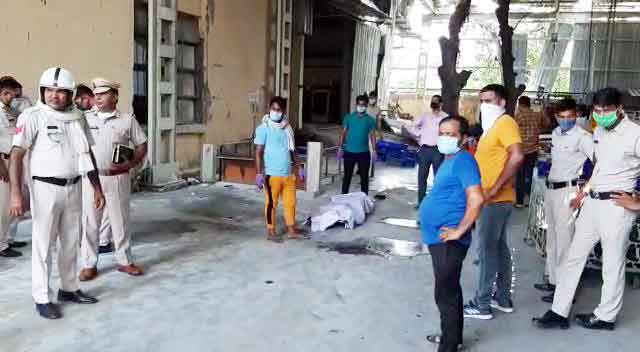 Oxygen cylinder burst in KR Component Company