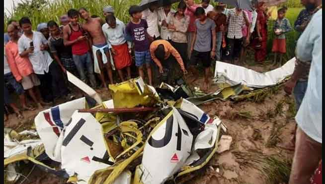 Helicopter Crash in Azamgarh