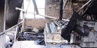 Matting factory caught fire