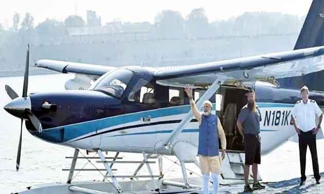 First seaplane service