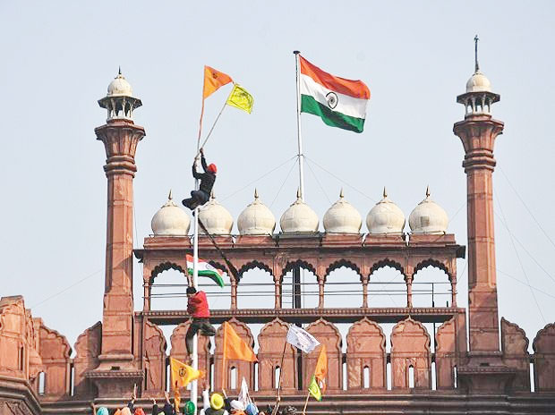 Delhi Red fort violence, Republic Day Violence